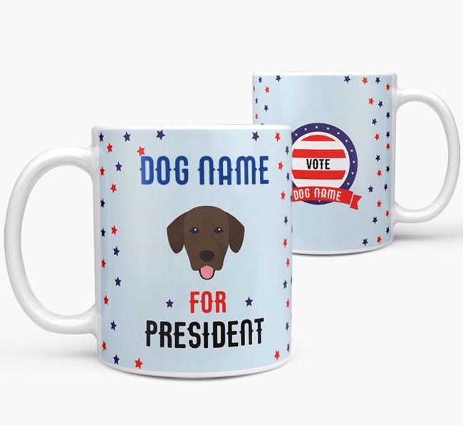 Personalized Vote {dogs name} for President Mug