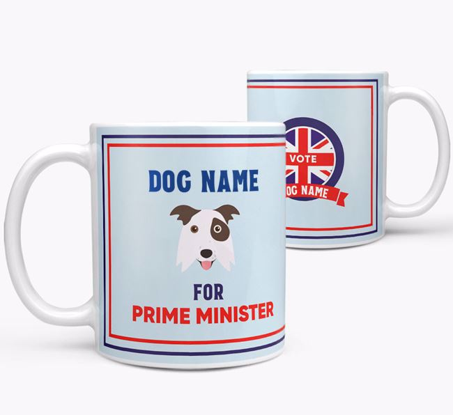 Personalised 'Prime Minister' Mug for your Border Collie