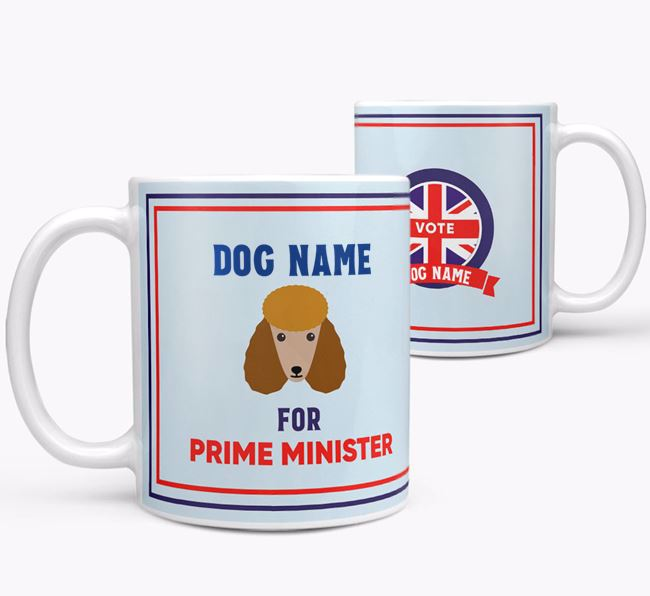 Personalised 'Prime Minister' Mug for your Poodle