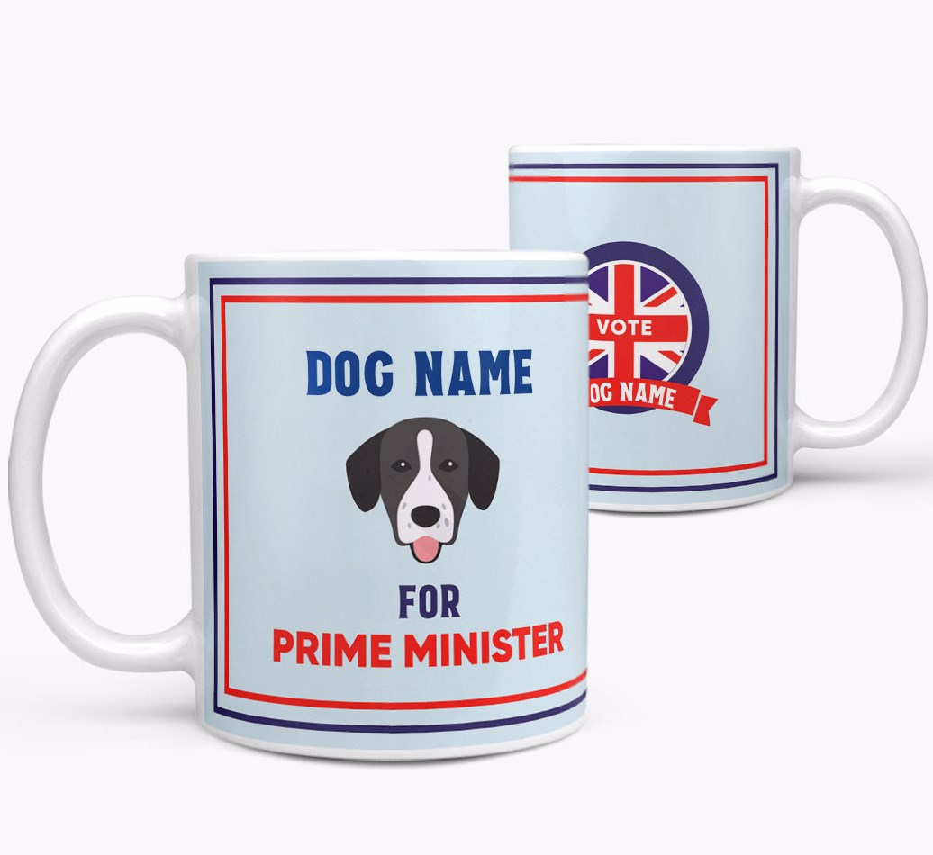 Personalised 'Prime Minister' Mug for your Springador both views