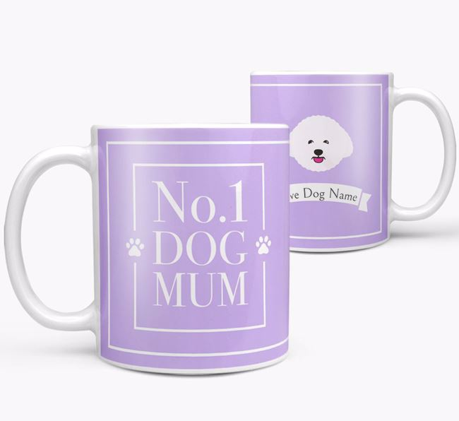 Personalised 'No.1 Mum' Mug from your Bichon Frise