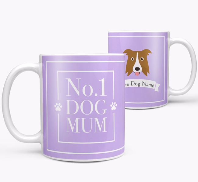 Personalised 'No.1 Mum' Mug from your Border Collie