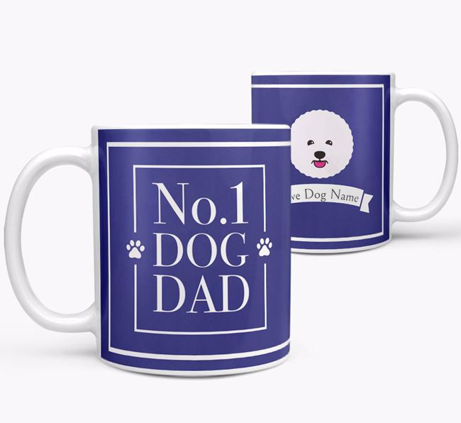 Personalised 'No.1 Dad' Mug from your Bichon Frise