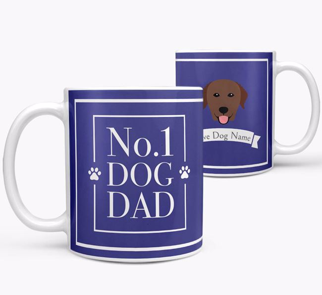 Personalised 'No.1 Dad' Mug from your Curly Coated Retriever