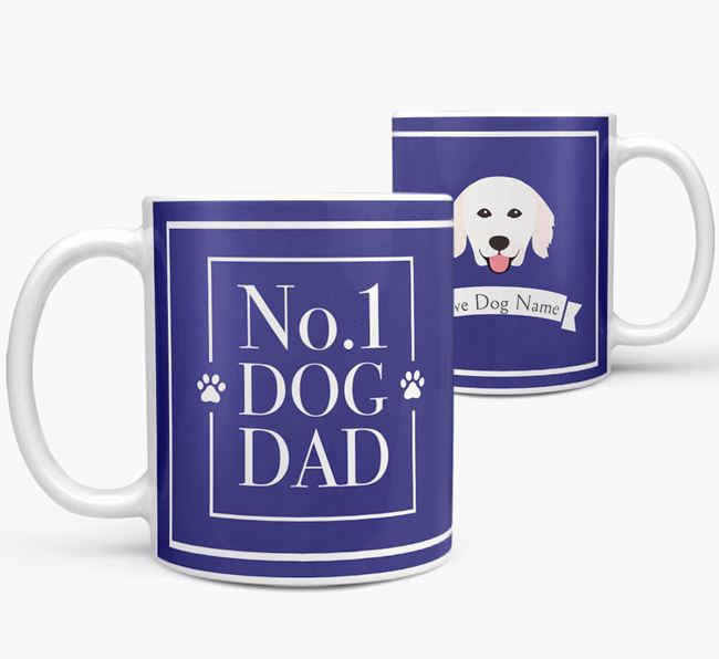 Personalised 'No.1 Dad' Mug from your Hungarian Kuvasz