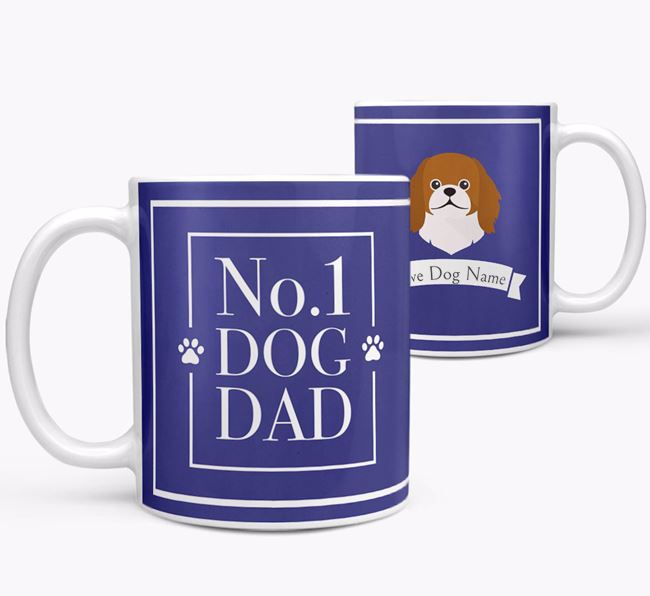 Personalised 'No.1 Dad' Mug from your Pekingese