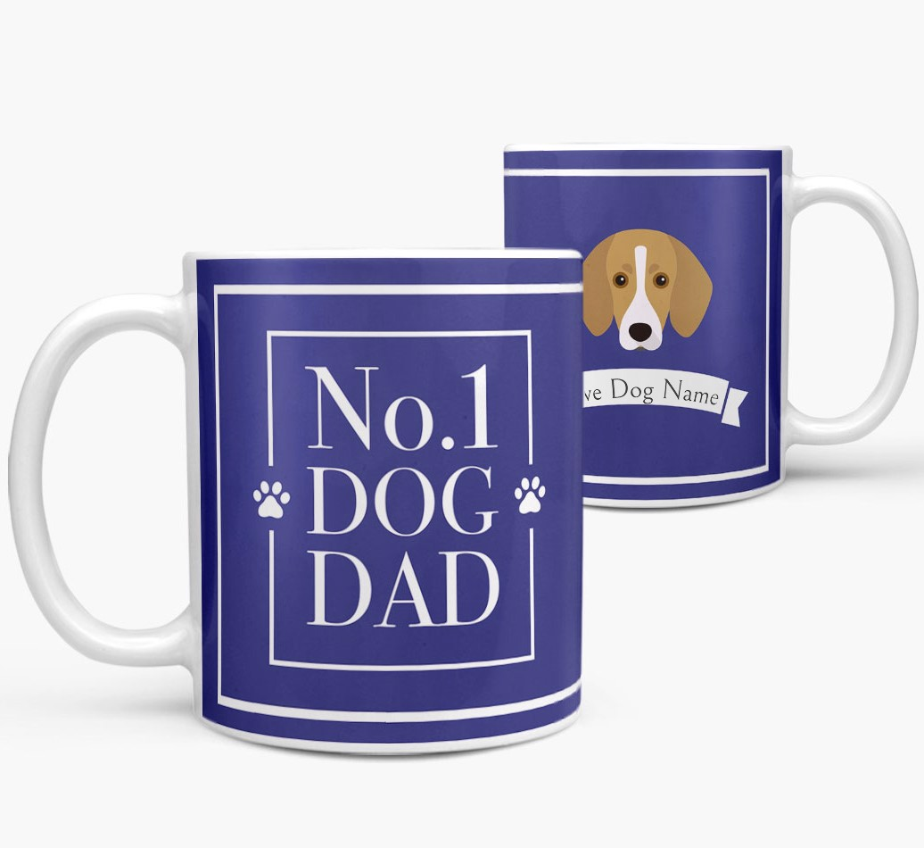 Personalized 'No.1 Dad' Mug from your Trailhound both views