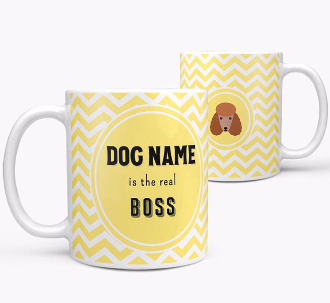Personalised 'Real Boss' Mug with Poodle Icon