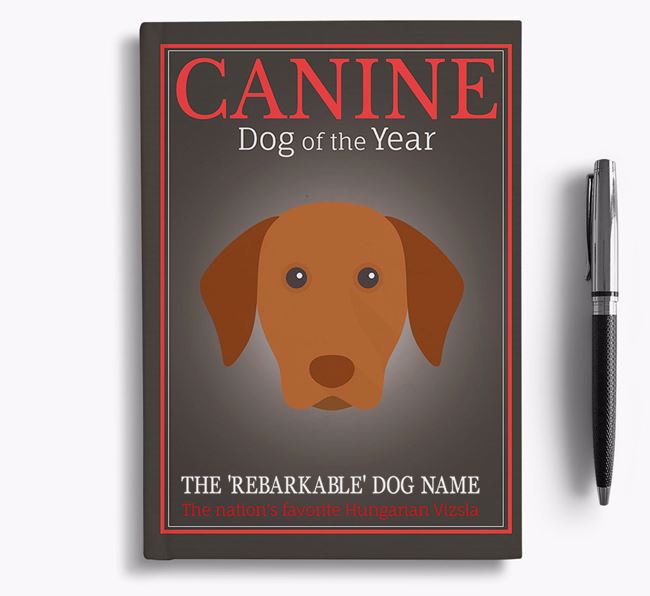 'Dog of the Year' Personalized Notebook