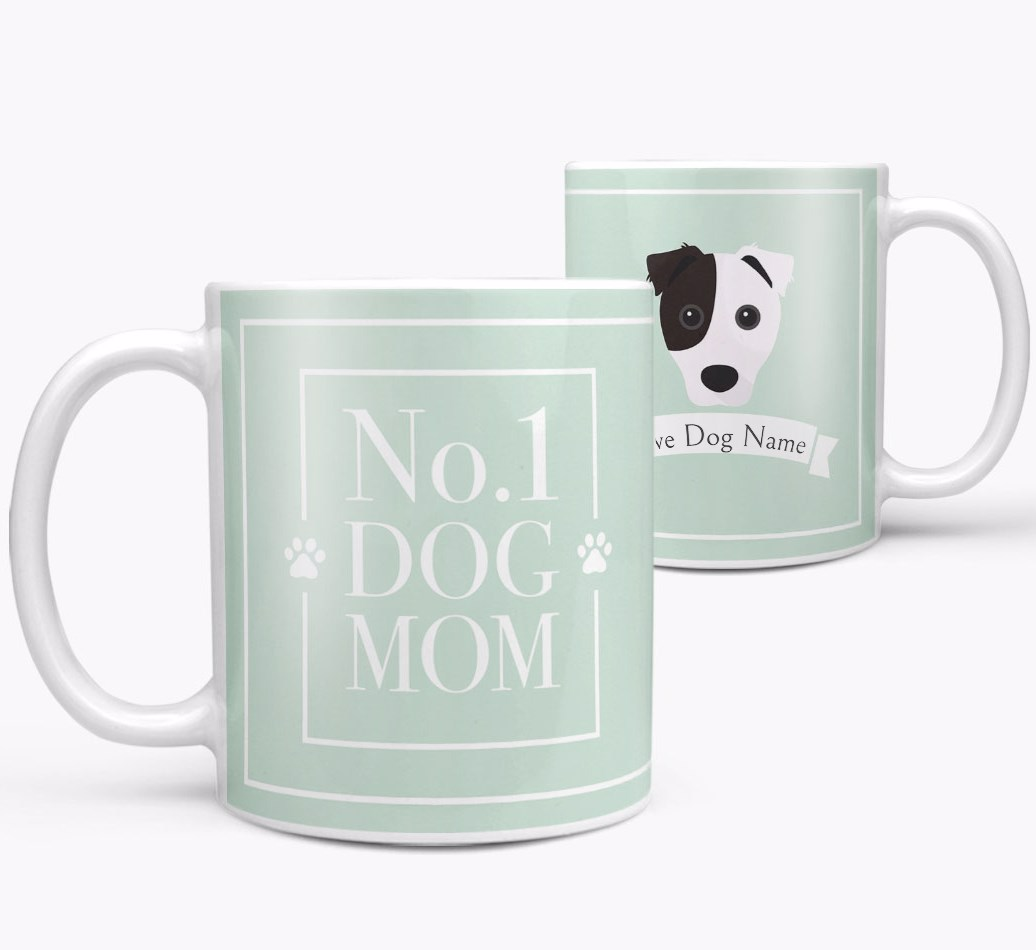 Personalized 'No.1 Mum' Mug from your Border Jack both views