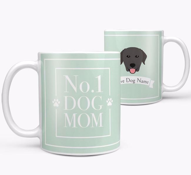 Personalised 'No.1 Mom' Mug from your Curly Coated Retriever