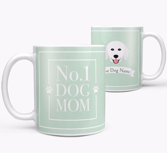 Personalised 'No.1 Mom' Mug from your Hungarian Kuvasz