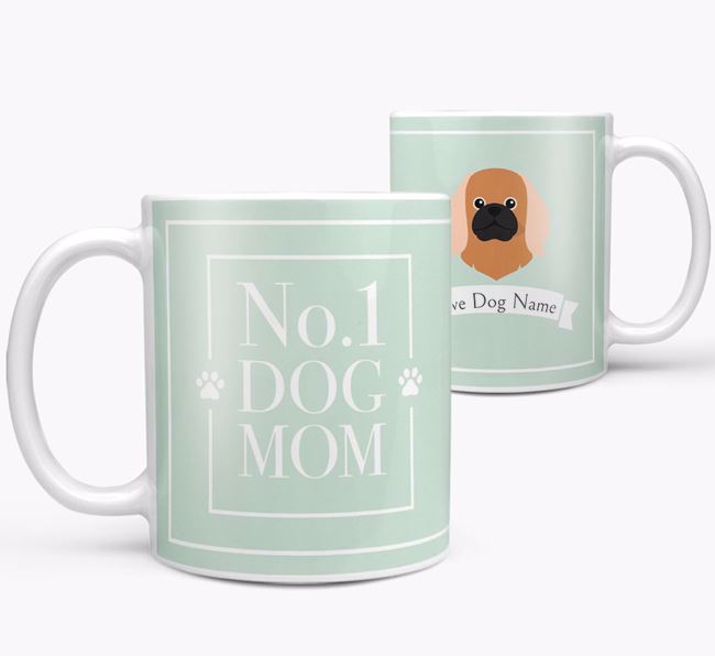 Personalised 'No.1 Mom' Mug from your Pekingese
