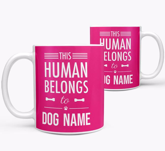 Personalised 'This Person Belongs to ' Mug