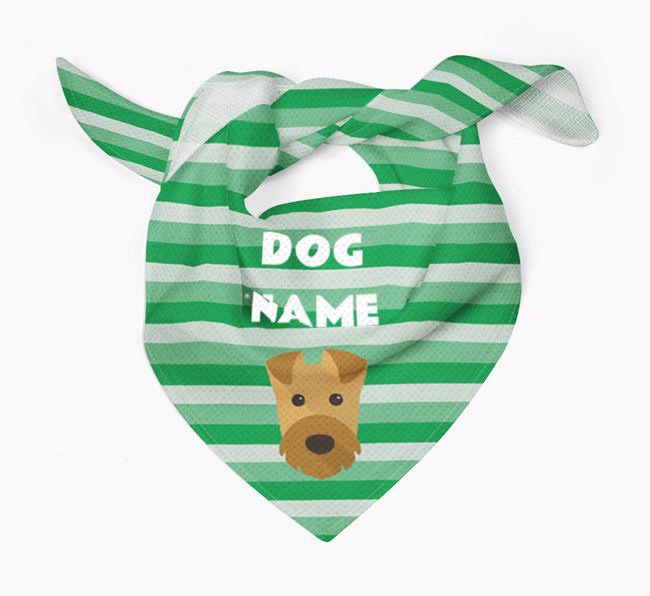 Personalised 'Stripes' Bandana for your Airedale Terrier