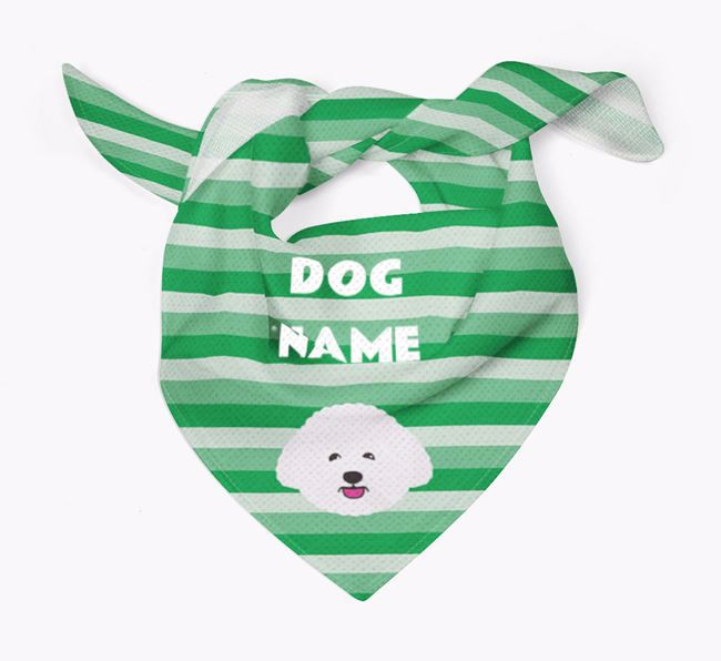 Personalised 'Stripes' Bandana for your Bichon Frise