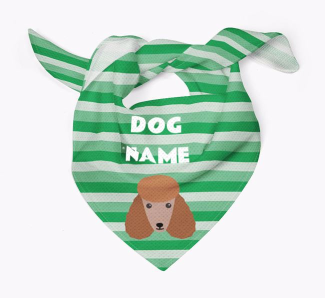 Personalised 'Stripes' Bandana for your Poodle