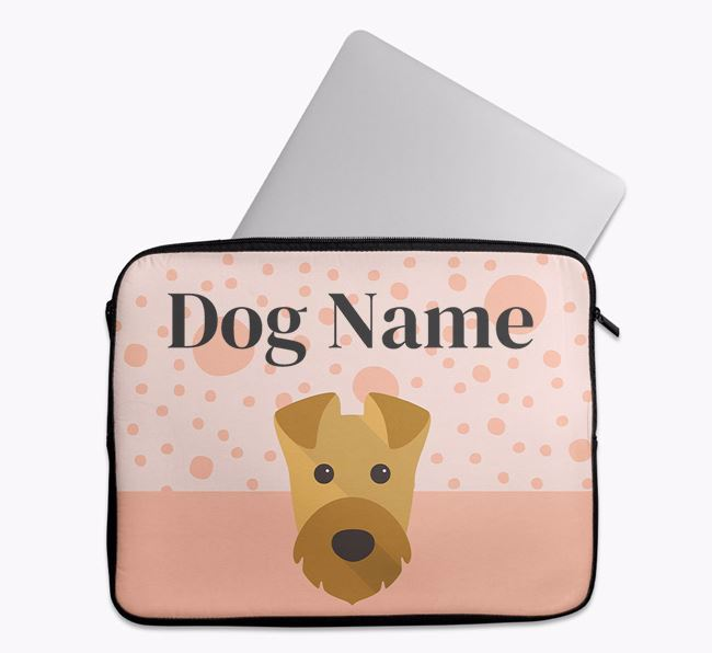 Personalised Tech Pouch with Airedale Terrier Icon