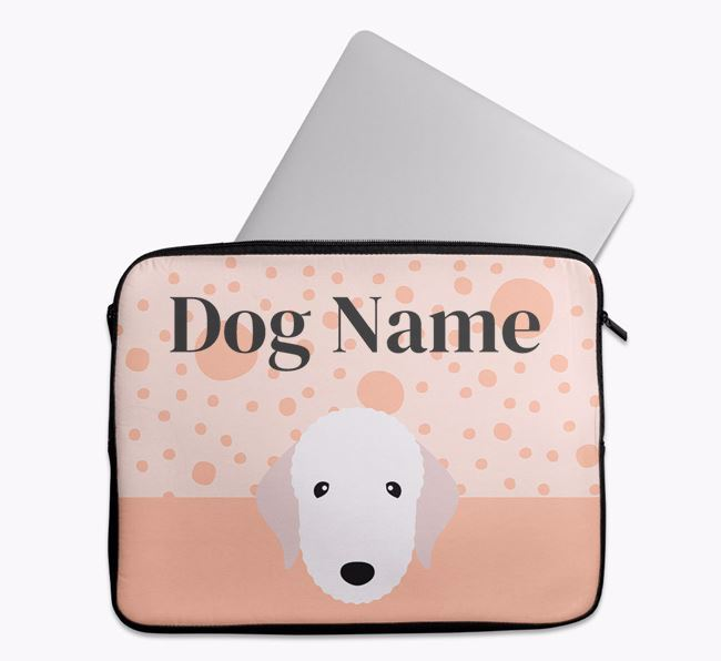 Personalised Tech Pouch with Bedlington Terrier Icon