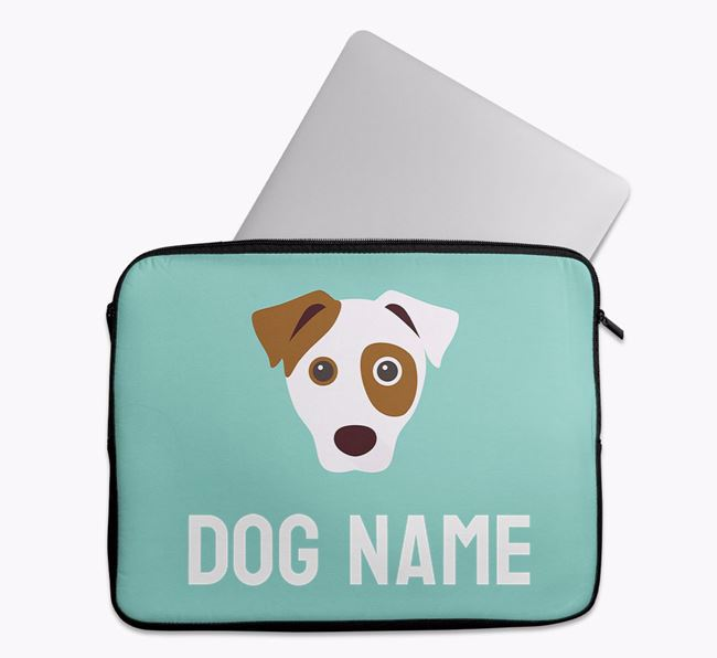 Personalised Bright & Bold Tech Pouch with Dog Icon