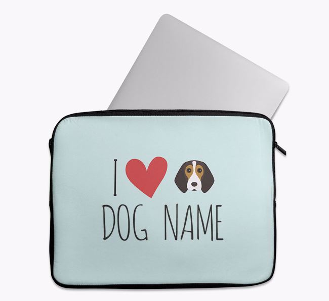 Personalised 'I Heart ' Tech Pouch with Beagle Icon