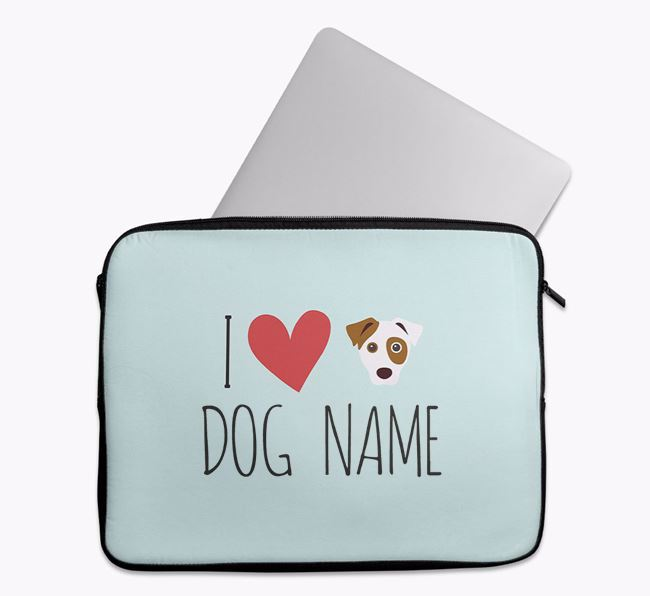 Personalised 'I Heart Your Dog' Tech Pouch with Dog Icon