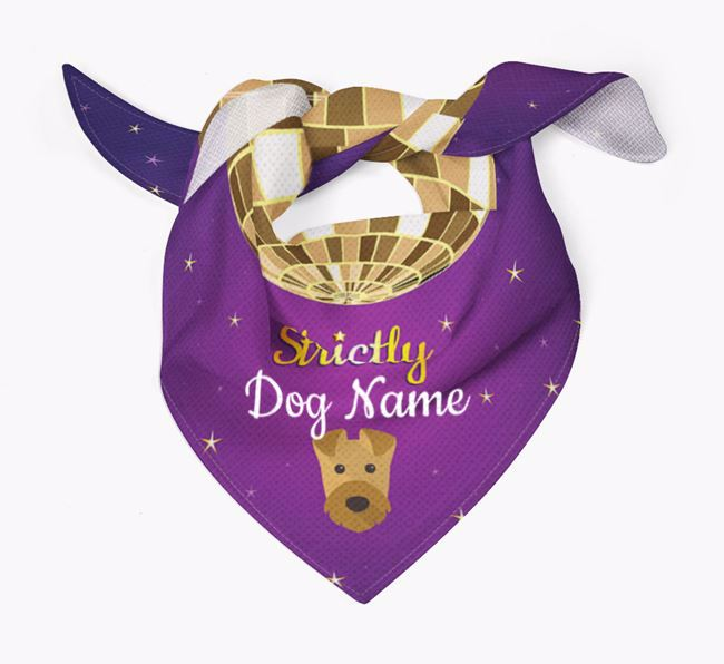 Personalised 'Strictly' Bandana for your Airedale Terrier