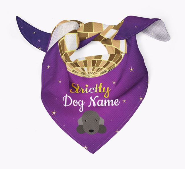 Personalised 'Strictly' Bandana for your Bedlington Terrier