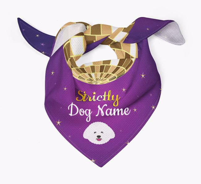 Personalised 'Strictly' Bandana for your Bichon Frise