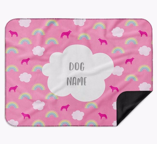 Personalised Rainbow Blanket with Border Collie Silhouettes