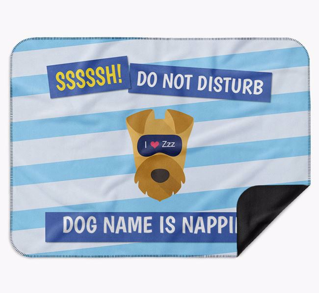 Personalised 'Do Not Disturb' Blanket for your Airedale Terrier