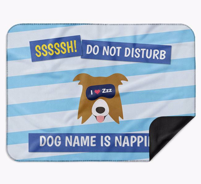 Personalised 'Do Not Disturb' Blanket for your Border Collie