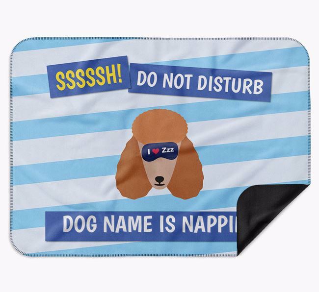 Personalised 'Do Not Disturb' Blanket for your Poodle