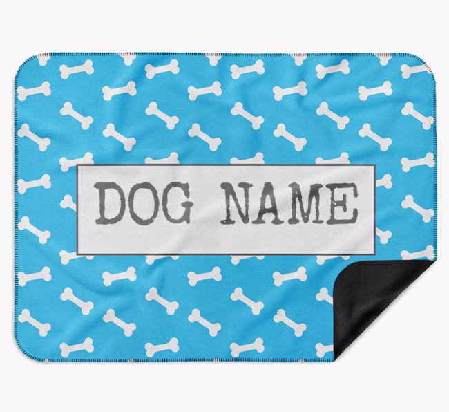 Personalised Bone Print Blanket for your Border Collie