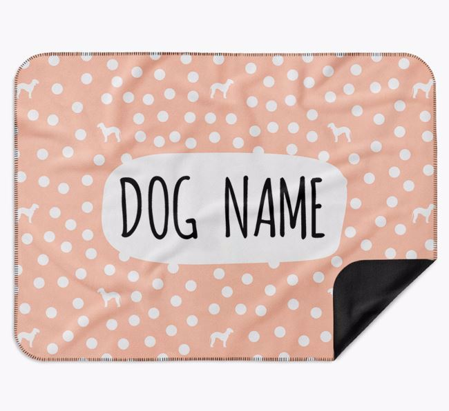 Personalised Spotty Blanket with Bedlington Terrier Silhouettes