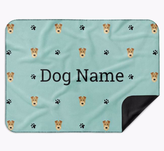 Personalised Blanket with Airedale Terrier Icon Print