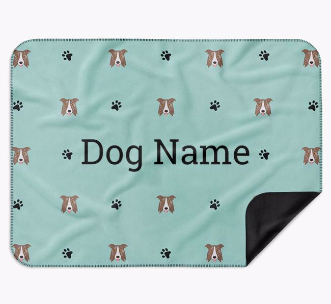 Personalised Blanket with Border Collie Icon Print