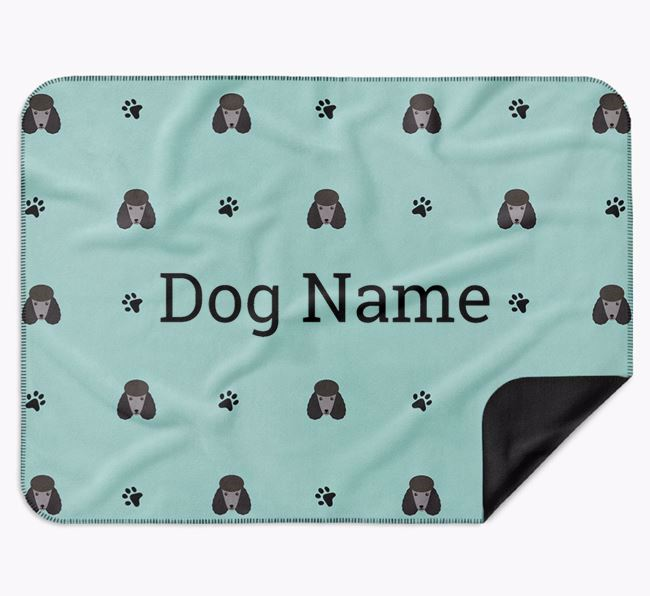 Personalised Blanket with Poodle Icon Print