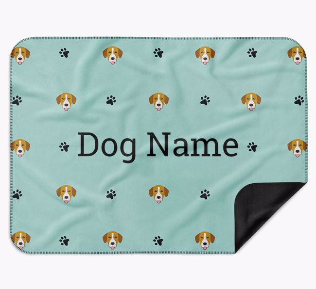 Personalised Blanket with Springador Icon Print
