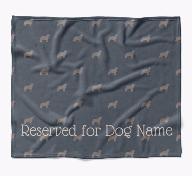 Personalised 'Reserved For' Blanket with Hungarian Kuvasz Silhouette Print