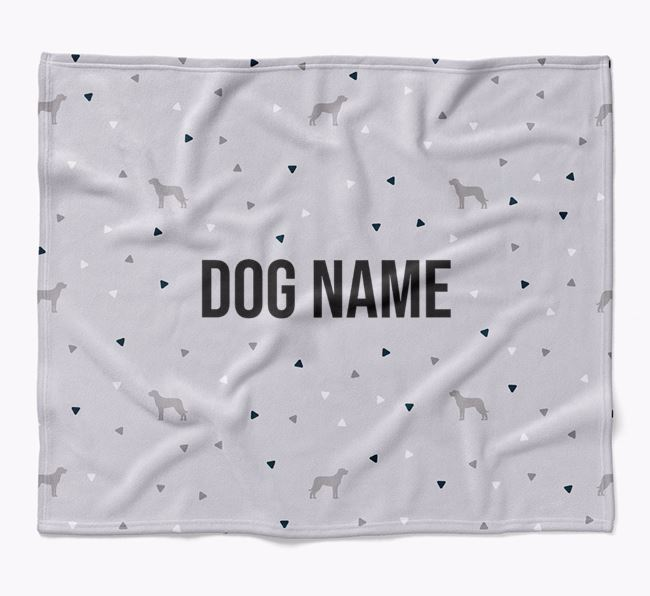 Personalized Triangle Pattern Blanket with Beauceron Silhouettes