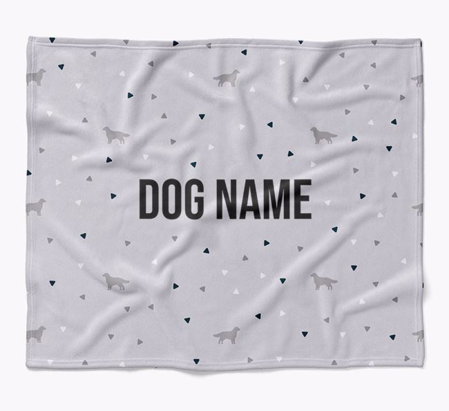 Personalized Triangle Pattern Blanket with Nova Scotia Duck Tolling Retriever Silhouettes