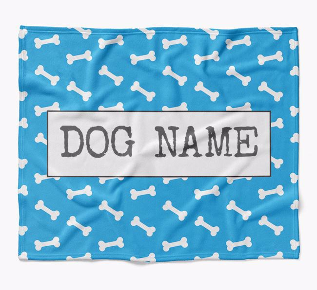 Personalized Bone Print Blanket for your Beauceron