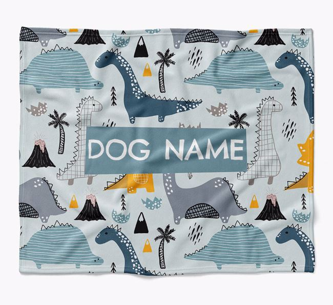 Personalized Dinosaur Print Blanket for your Lurcher