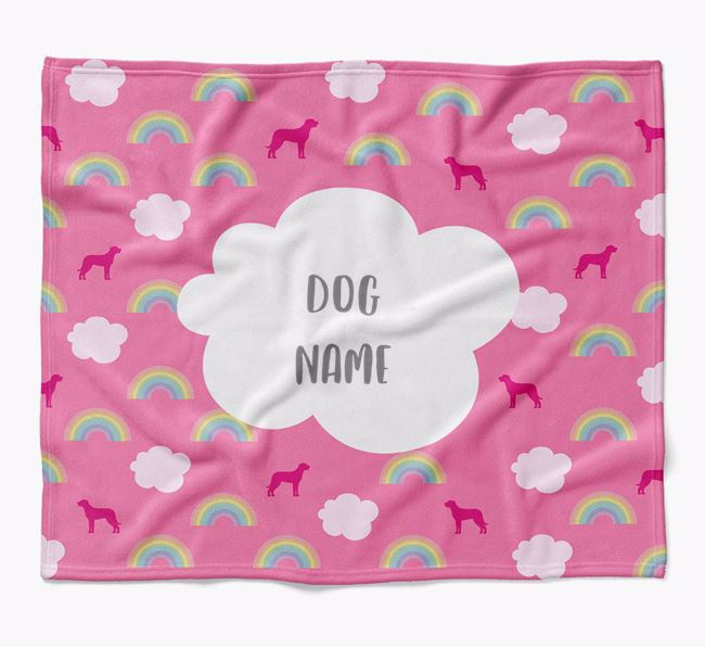 Personalized Rainbow Blanket with Beauceron Silhouettes