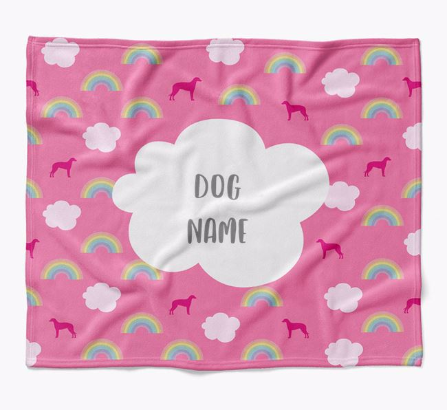 Personalized Rainbow Blanket with Lurcher Silhouettes