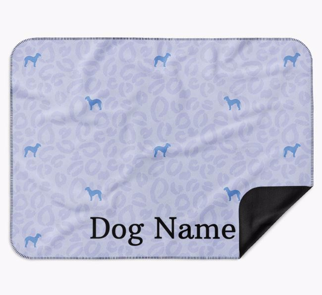 Personalised Leopard Print Bedlington Terrier Blanket