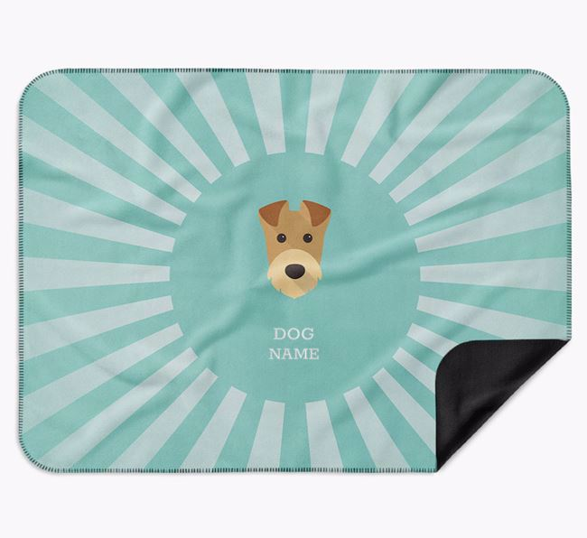 Personalised Rays Blanket for your Airedale Terrier