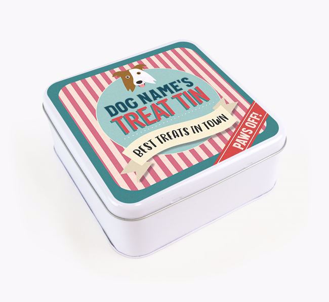 'Best Treats in Town' Square Tin for your Border Collie