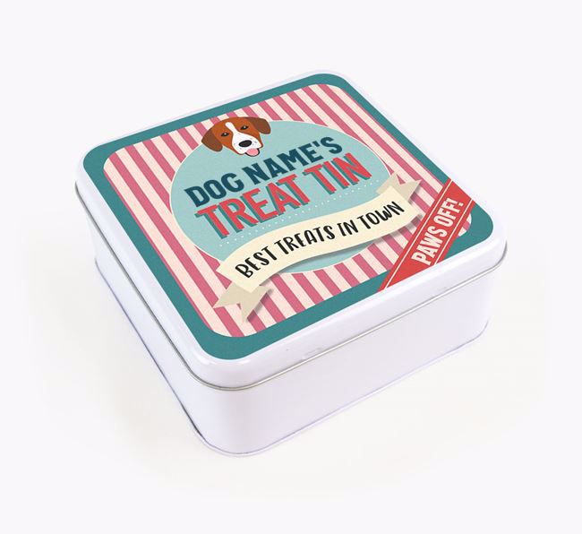 'Best Treats in Town' Square Tin for your Springador
